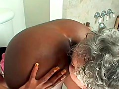 Old buddy likes to lick her black and appetizing ass