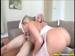 Big booty blonde fucked