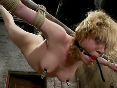 Blonde Lily Labeau gets tortured and punished