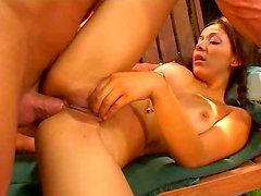Super hot babe with her cute and pretty face got fucked on sofa