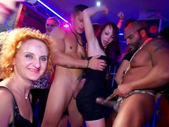 Cute hardcore party with slender babes and big dicks