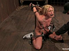 Mason screams loudly while being tortured in BDSM clip