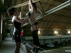 Two slutty chicks get their holes toyed and love it much