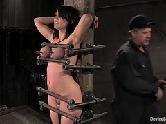 Beverly Hills's go blue in a breath-taking BDSM clip