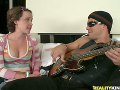 Katie Gets A Fuck And Facial From Hot Guitar Player