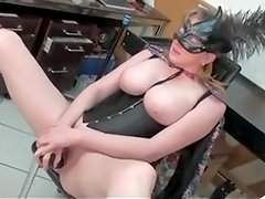 bunny wife pleasing on herself