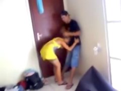 couple being caught by friend