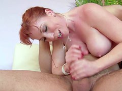 Cock addicted lusty redhead milf Brittany O'Connell with big firm