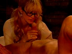 Absolutely amazing blondie gives her lover one hell of a blowjob