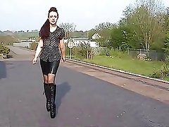 Ballet boots at the station