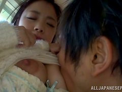 Kana Tsuruta gets her Asian pussy licked and fucked remarcably well