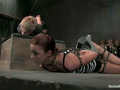 Chained hogtie bondage for a sassy siren Jaelyn Fox