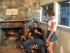 Double Penetration Threesome by the Fireplace for Kayla Quinn