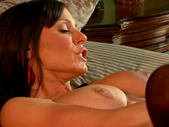 Frantic dark haired MILF gets rammed doggystyle with an extra passion