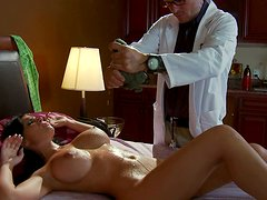 Busty MILF Rebeca Linares is examined by perverted Doctor