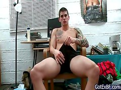 Amazing muscled and tattoed hunk jerking part4