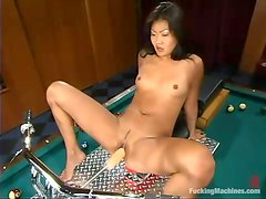 Lucy Lee gets her amazing Asian pussy smashed by a fucking machine