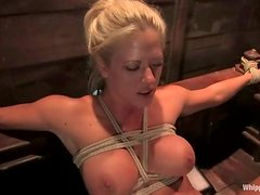 Holly Heart gets tied up and fisted deep in her wet pussy