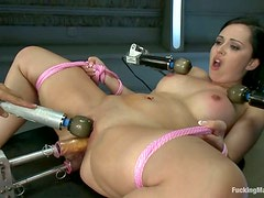 Triple Vibrator Fun and Double Penetration By Machine for Angell Summers