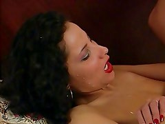 Cumshot on body and face (vintage)