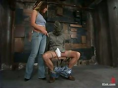 Kinky Pegging Action Ends with Blowjob by Penny Flame in Femdom BDSM