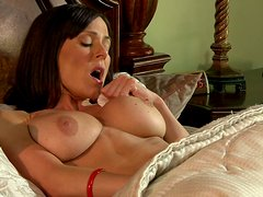 Naughty Brunette Cougar In Stockings Gives Her Stud A Time Of His Life