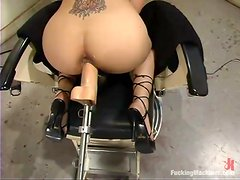 Victoria Sweet gets multiple orgasms while playing with a fucking machine