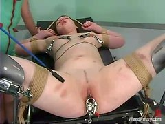 Nurse Using Electrical Devices to Torture Submissive Girl in BDSM