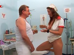 Carmen Collins and Pepper have wild FFM sex in a hospital