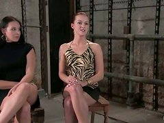 Sara Faye and her GF enjoy being tortured and beaten in a basement
