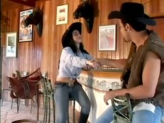 Hot Cowboy And Cowgirl Get Dirty Anal Sex At the Salon
