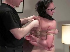 Curvy honey in glasses is rocking out her time at casting