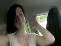 German amateur teen fucked in a car