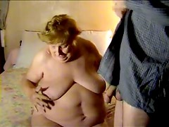 Chubby Granny With Big Melons Sucks Stiff And Long Dick