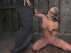 Busty and petite Eva Angelina is going to be hurt hard