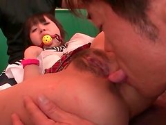 Asshole of a hot Japanese teen licked lustily