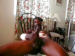 Black Daddy  - Stroking His Huge Cock