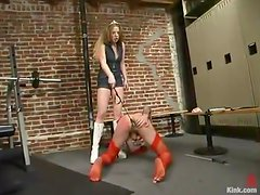 Joey Sommers gets his ass beaten and fucked with a toy by Princess Kali