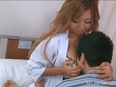Stunning Japanese Babe with Tiny Waist and Big Tits Blowjobs and Fucks