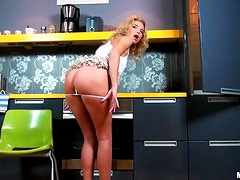 Petite blond angel is so high about that dick