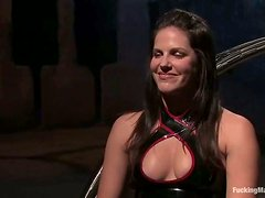 Luscious Bobbi Starr gets tortured and seated on the machine