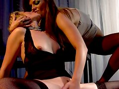Samantha Ryan And Nika Noir having an amazing lesbian sex