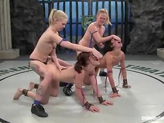 Two bitches are fucking up that poor babe