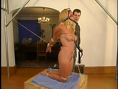 Hot Goldie gets tied up and toyed in her own house