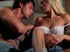 Amazing hot blode whore in jeans shorts gets seduced