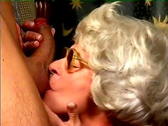 Diane blows and gets her hairy old cunt pounded from behind