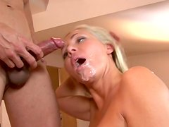 Excited group sex with cumshots on the girls faces