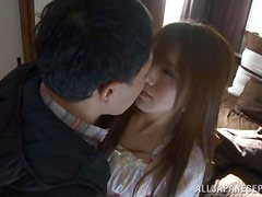 Gorgeous Ria Horisaki enjoys getting her ass licked before fucking.