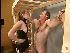 Billy Budd gets tortured and fucked with a strapon by Princess Kali