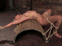 Deliciously hot blondie is being humiliated all the way